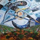 Campos Lunares. Oleo sobre lienzo. 130 x 160 cm.