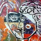 La femme. Oleo sobre lienzo. 30 x 40 cm