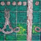 Aldaba. Oleo sobre papel. 60 x 45 cm
