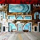 Teatro. Oleo sobre lienzo. 160 x 130 cm.