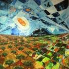 Campo de olivos. Oleo sobre lienzo. 100 x 100 cm.