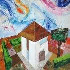 Oleo sobre lienzo. Cañada catena. 40 x 70 cm.