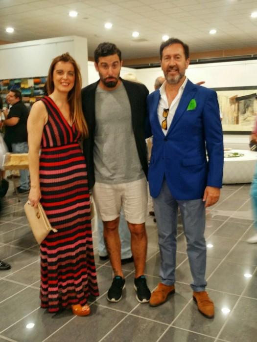 Miguel y Olga con Belin